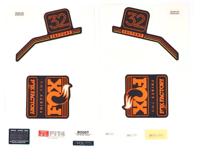 Fox Racing Shox Decal Kit 2018 32 F-S orange/matt black